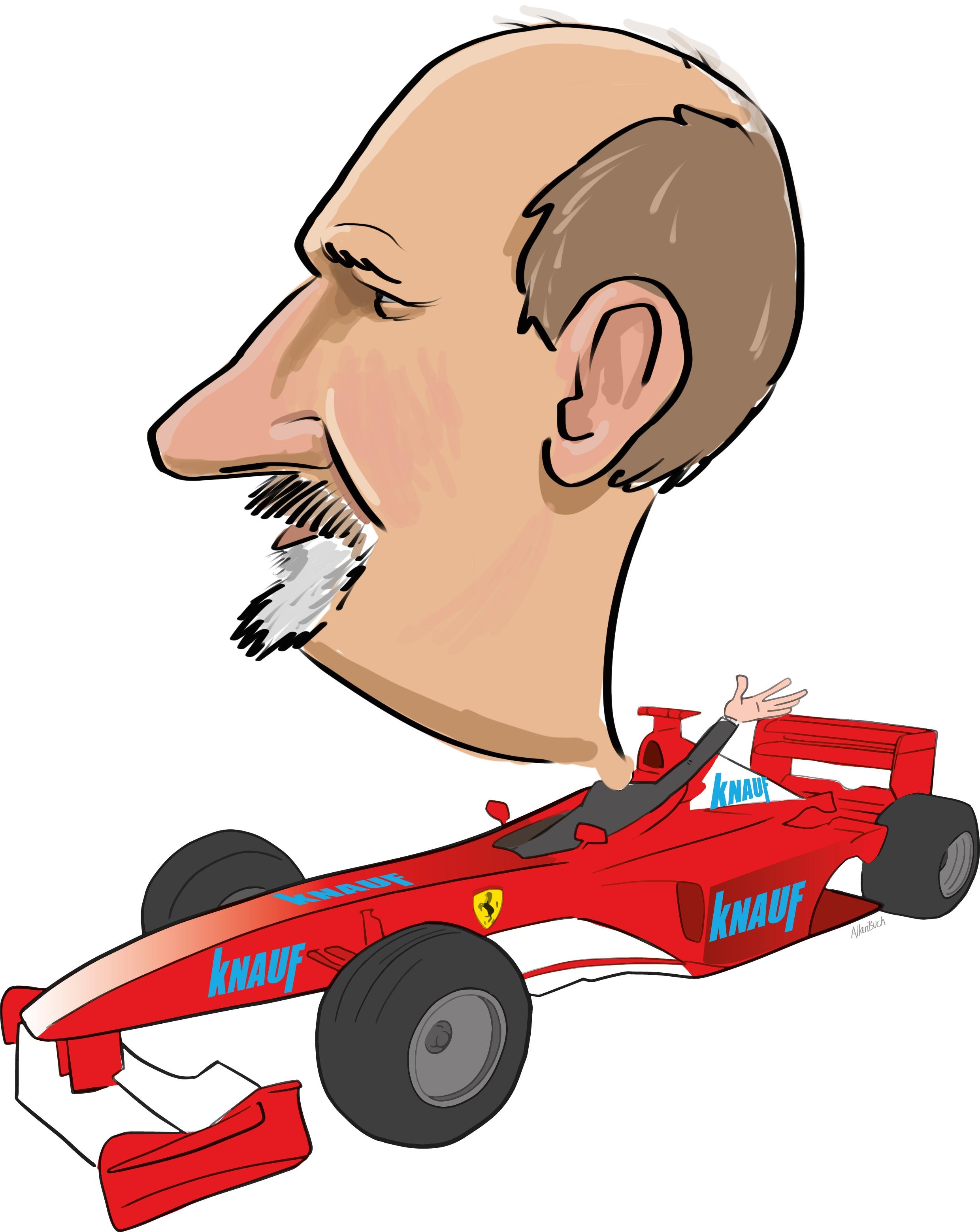ipad Live karikatur med Allan Buch. farve profil