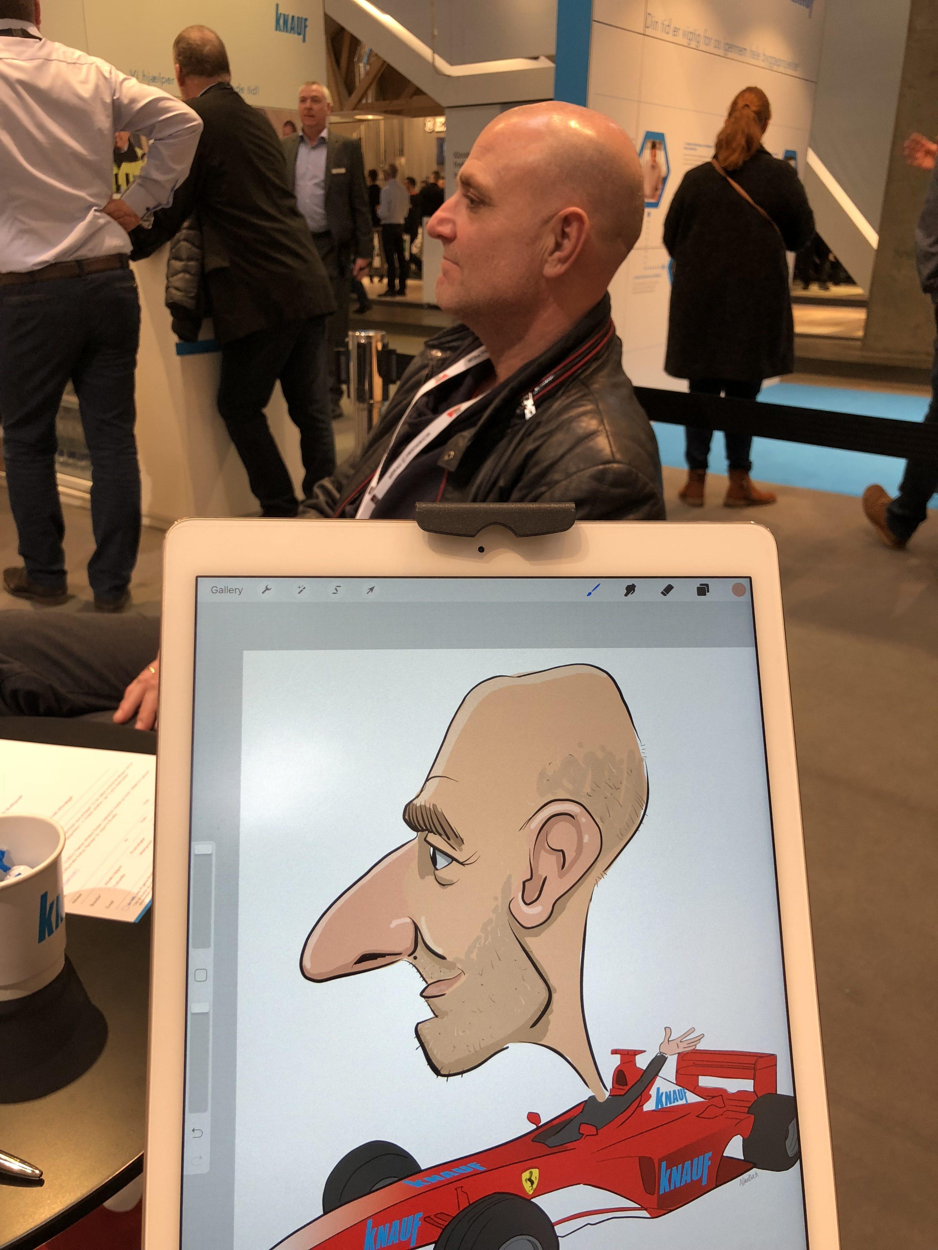 ipad Live karikatur med Allan Buch. farve profilfoto4