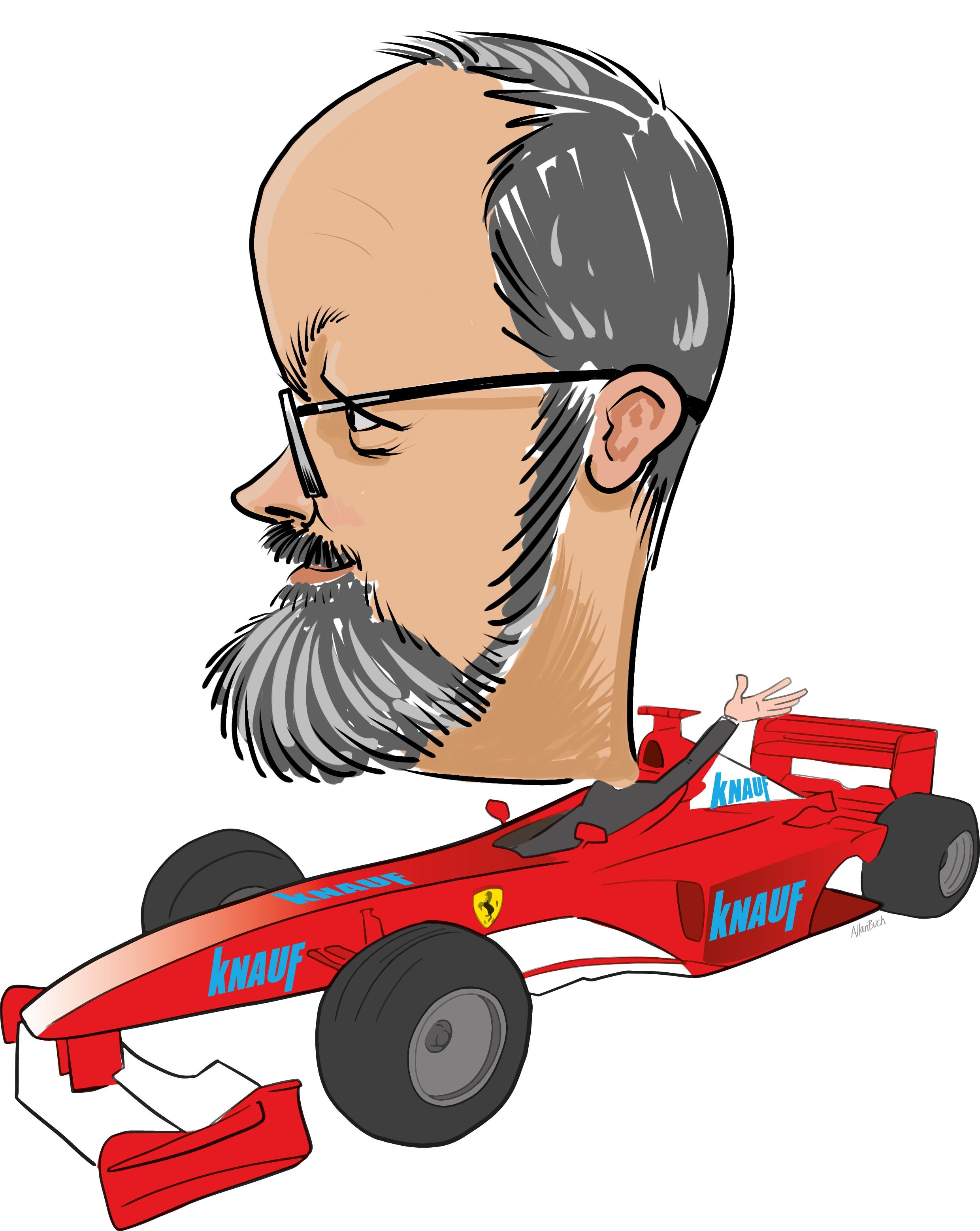ipad Live karikatur med Allan Buch. farve profiltegning12