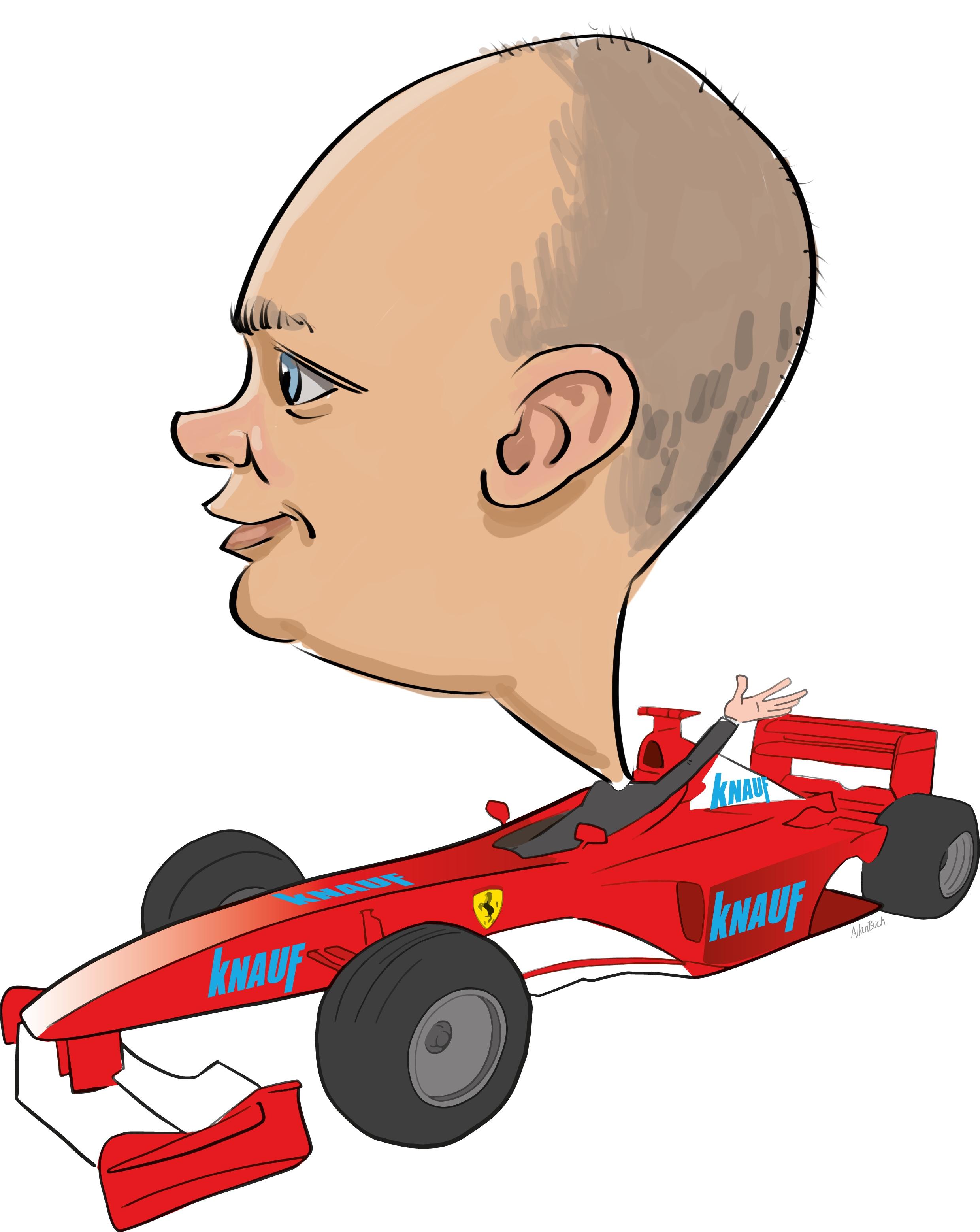 ipad Live karikatur med Allan Buch. farve profiltegning13