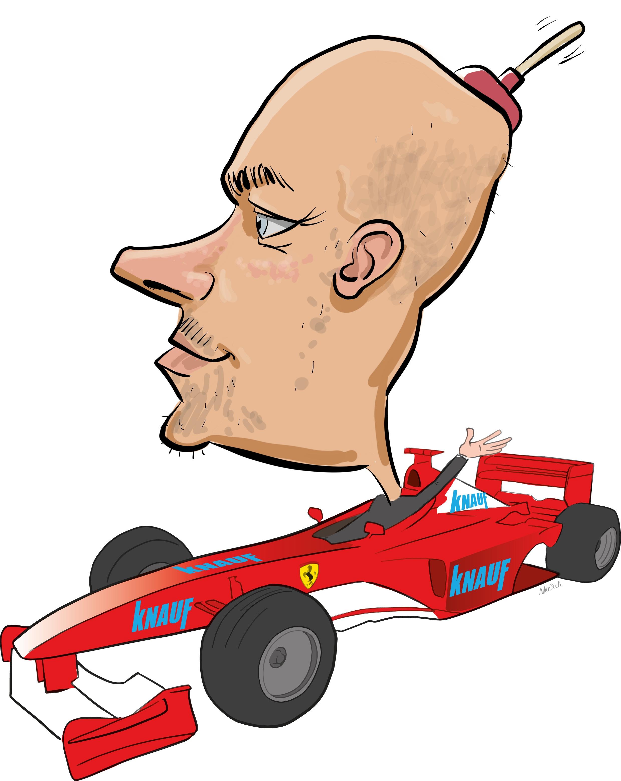 ipad Live karikatur med Allan Buch. farve profiltegning18