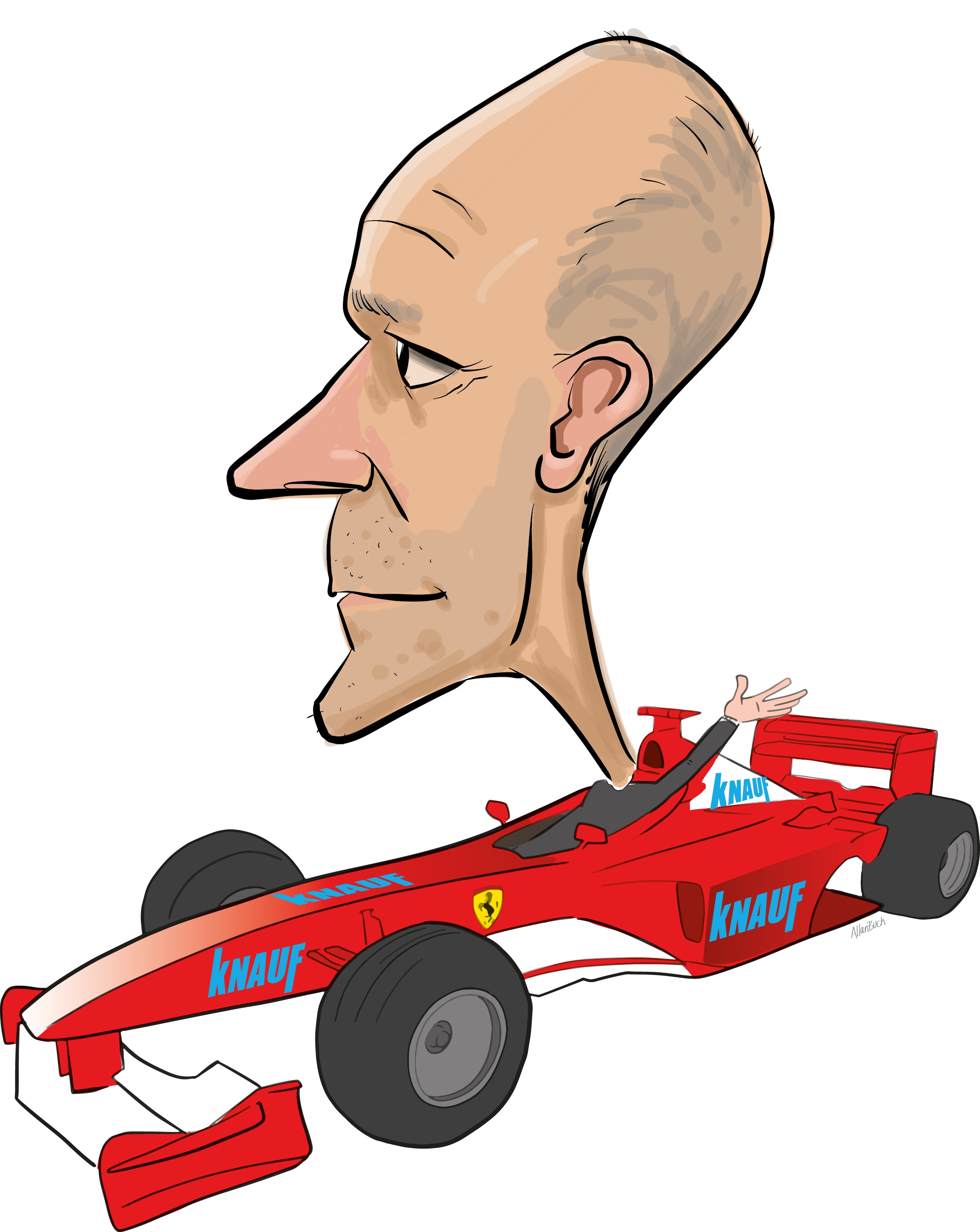 ipad Live karikatur med Allan Buch. farve profiltegning19