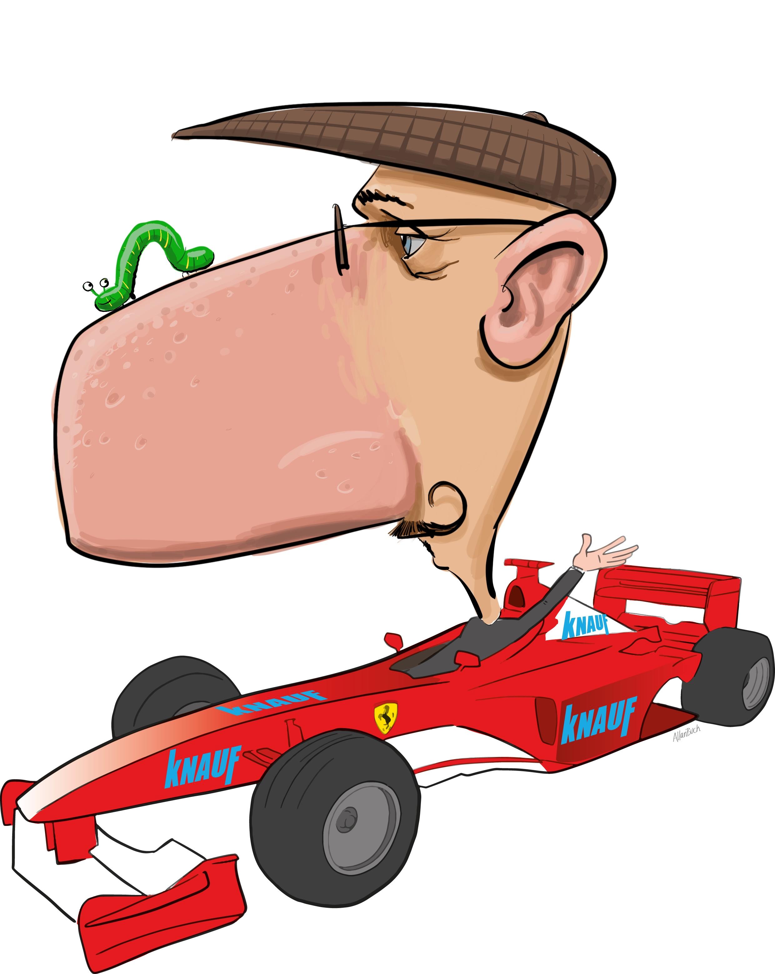 ipad Live karikatur med Allan Buch. farve profiltegning28