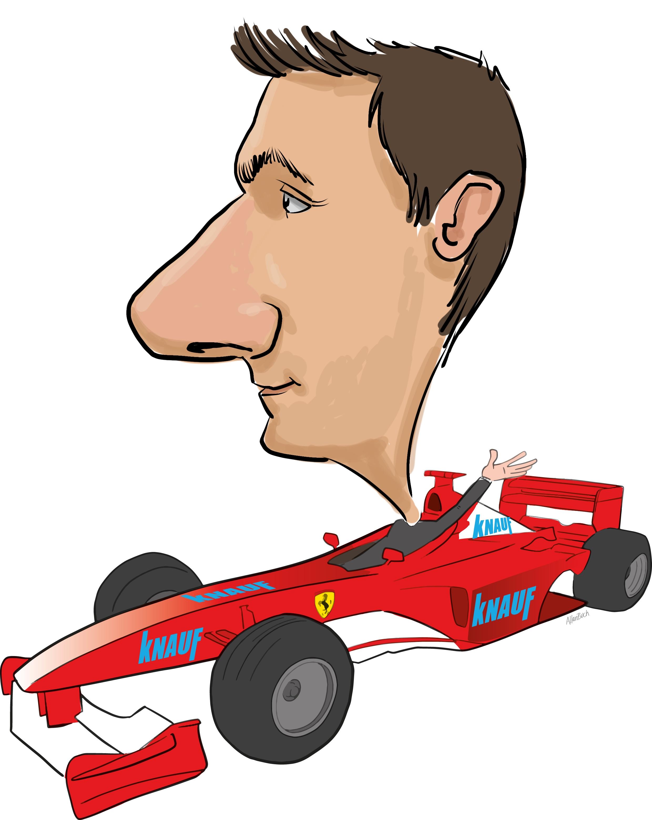 ipad Live karikatur med Allan Buch. farve profiltegning3
