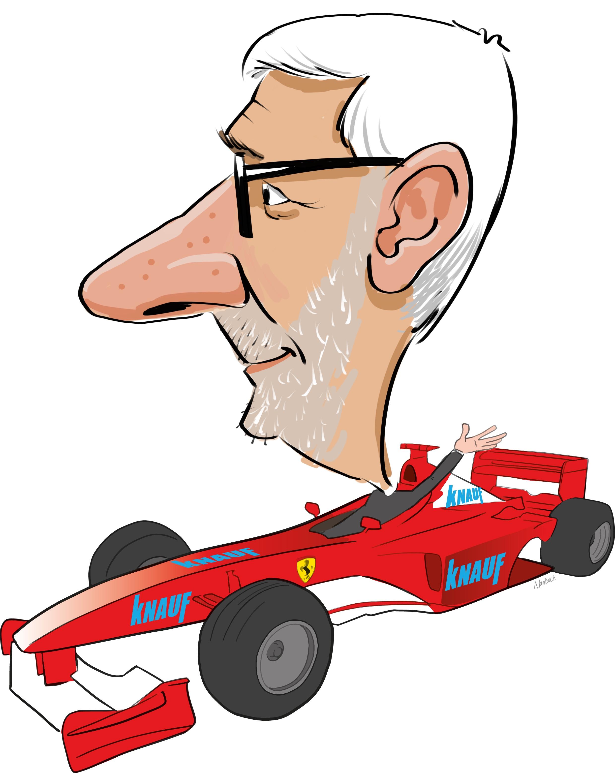 ipad Live karikatur med Allan Buch. farve profiltegning4