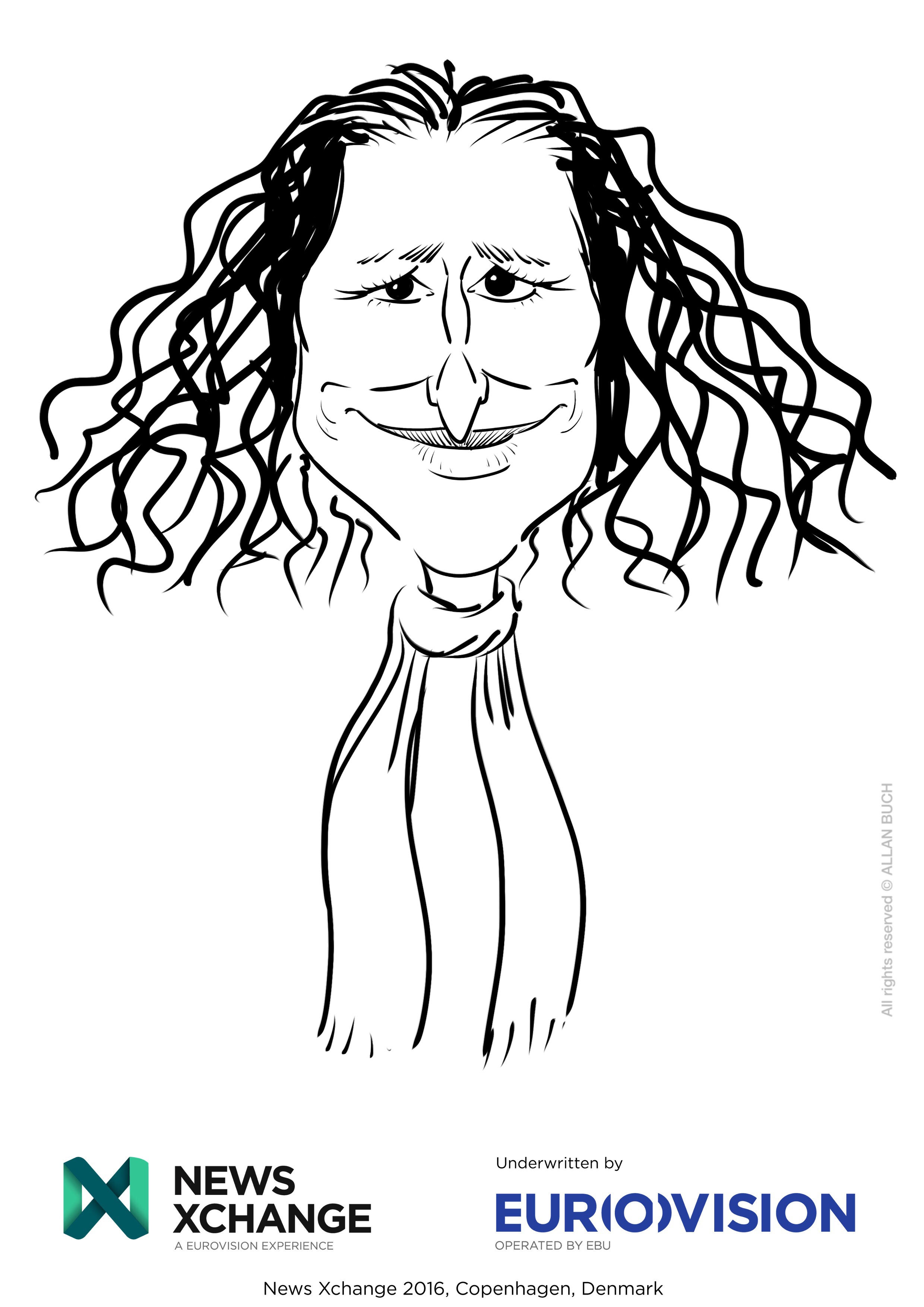 ipad Live karikatur med Allan Buch_24