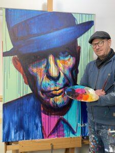 Leonard Cohen maleri